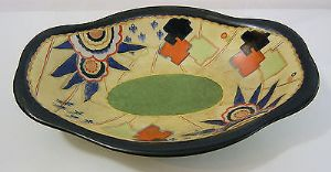 Carlton Ware Handcraft 'Jigsaw' Multicoloured Revo Dish/ Bowl - 1930s - SOLD